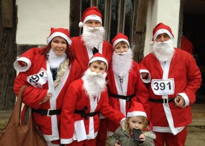 Sara's Santa Fun run